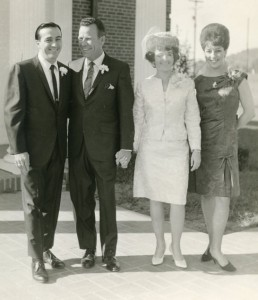 "Photograph of Faron Young as ""best man"" at the wedding of General Store co-founders Frank and Jeanie Oakley in 1966."