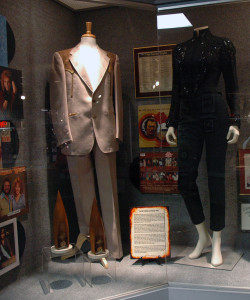 A photograph of the David Frizzell and Shelly West Exhibit on display at the Willie Nelson and Friends Museum.