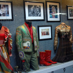 One of our exhibits on display - The early days of country music television - Porter Wagoner and Dolly Parton outfits.