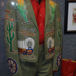 One of our exhibits on display - Porter Wagoner's Nudie suit made by Nudie's Rodeo Tailor of Hollywood sequined suit.