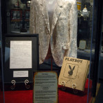 Ronnie Milsap's performance jacket, hit song and braille Playboy magazine on display at the Willie nelson and Friends Museum.