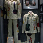 The Wilburn Brothers clothing along with photos of their TV series female star - Loretta Lynn on display at the Willie Nelson and Friends Museum.