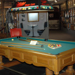 One of our exhibits on display - A custom pool table built specifically for Willie Nelson by Brunswick Billiards.