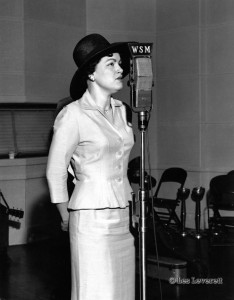 A photo of Patsy Cline at WSM's Studio B Audition Show on 5/14/1962