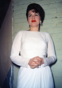The last living photo taken of Patsy Cline backstage at a show in Kansas City, MO on the night of her plane crash on display at the Willie Nelson and Friends Museum.