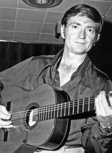 """Willie's famous guitar """"Trigger"""" in the very early days!"""