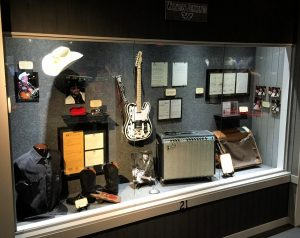 The new Waylon Jennings exhibit now on display at the Willie Nelson and Friends Museum in Nashville, TN.