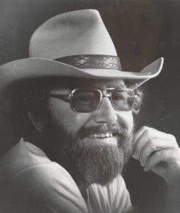 Photograph of Hank Cochran in cowboy hat.