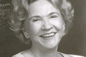 A photograph of Nashville songwriter Mae Axton who wrote Heartbreak Hotel.