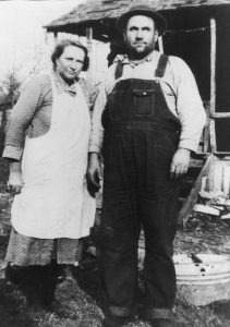 A photograph of Willie Nelson's grandparents who raised him as a child in Abbott, Texas.