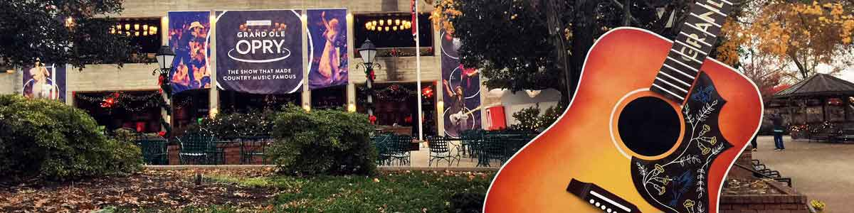 Photograph of the Grand Ole Opry House in Nashville, TN.