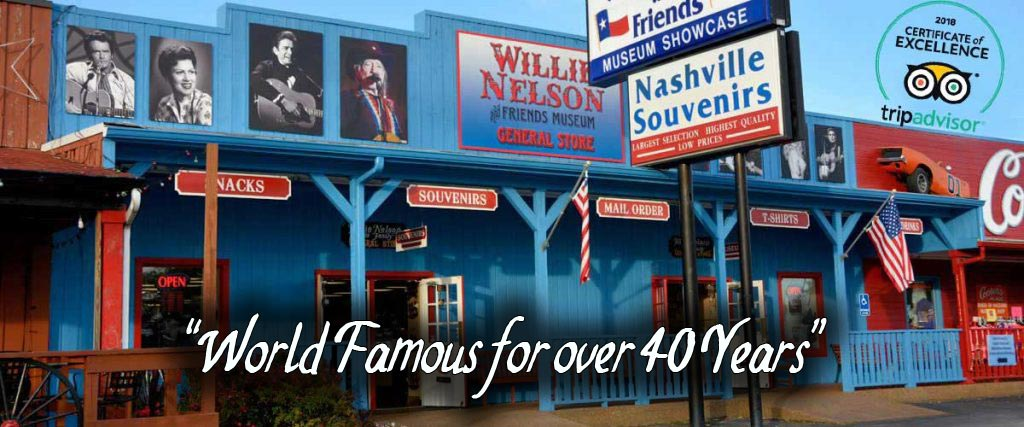 Willie Nelson Museum and Nashville Souvenirs
