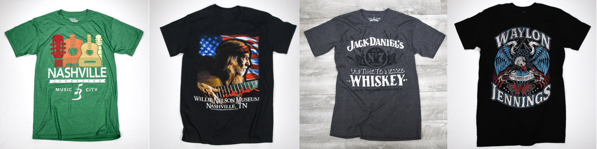 Nashville Gifts and Souvenirs! T-Shirts, Country Music and Jack Daniel's Merchandise.